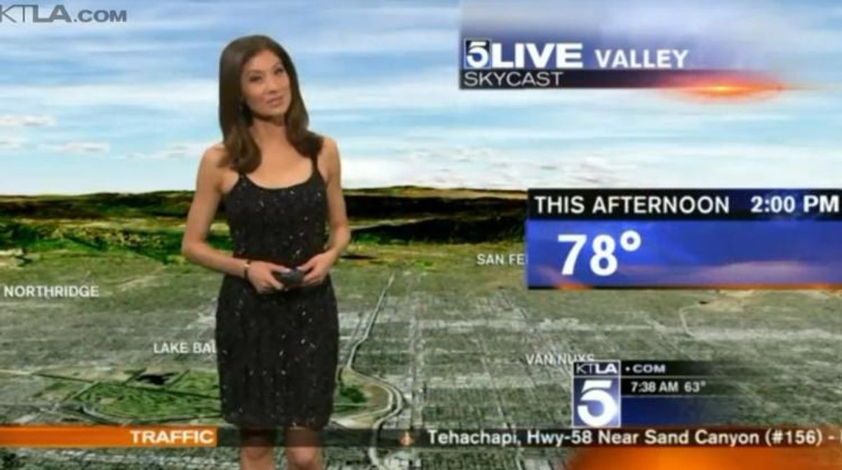 Meteorologist Told To Cover Up While On Air
