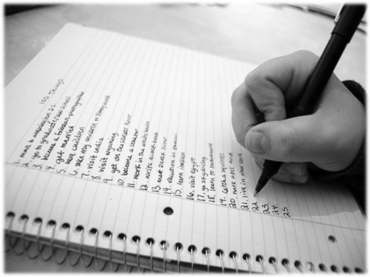The Importance Of Making Lists