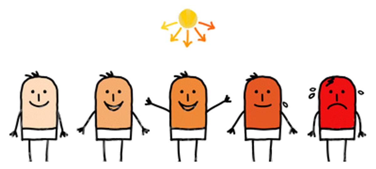 Stages Of Sunburn