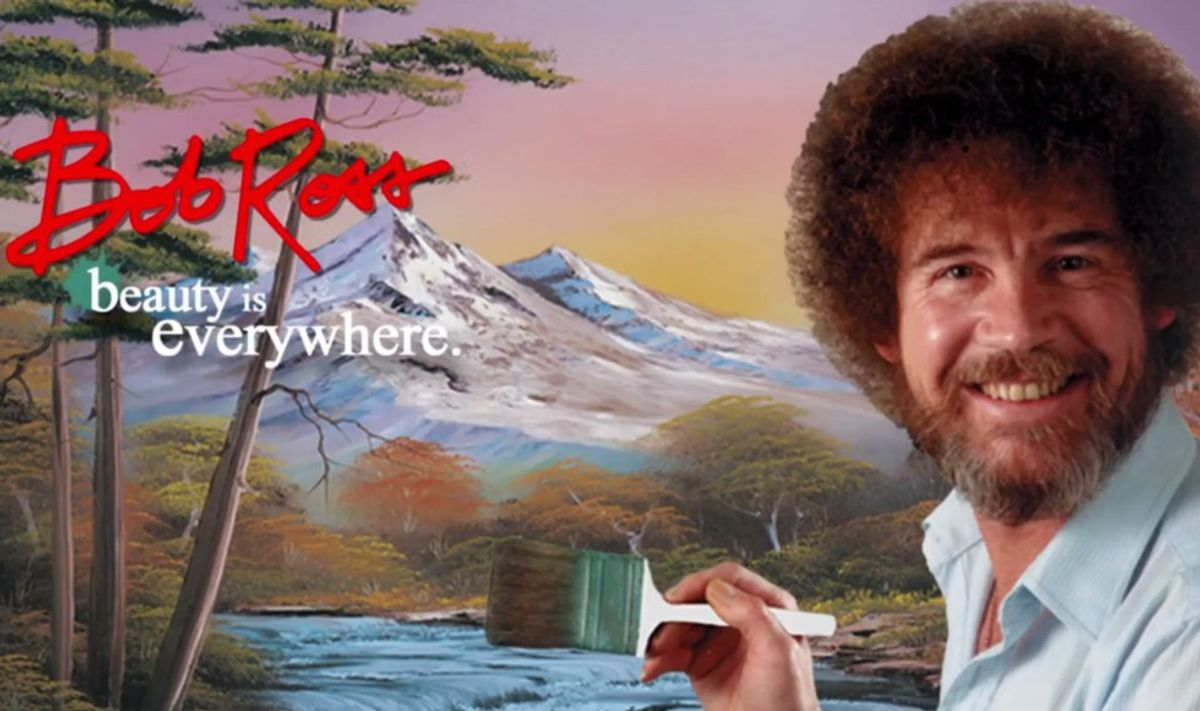 How To Throw A Bob Ross Viewing Party