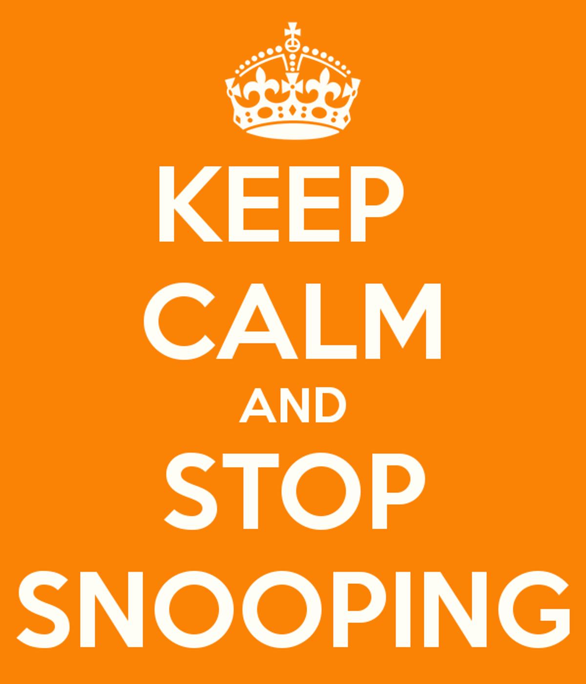 Why You Shouldn't Snoop