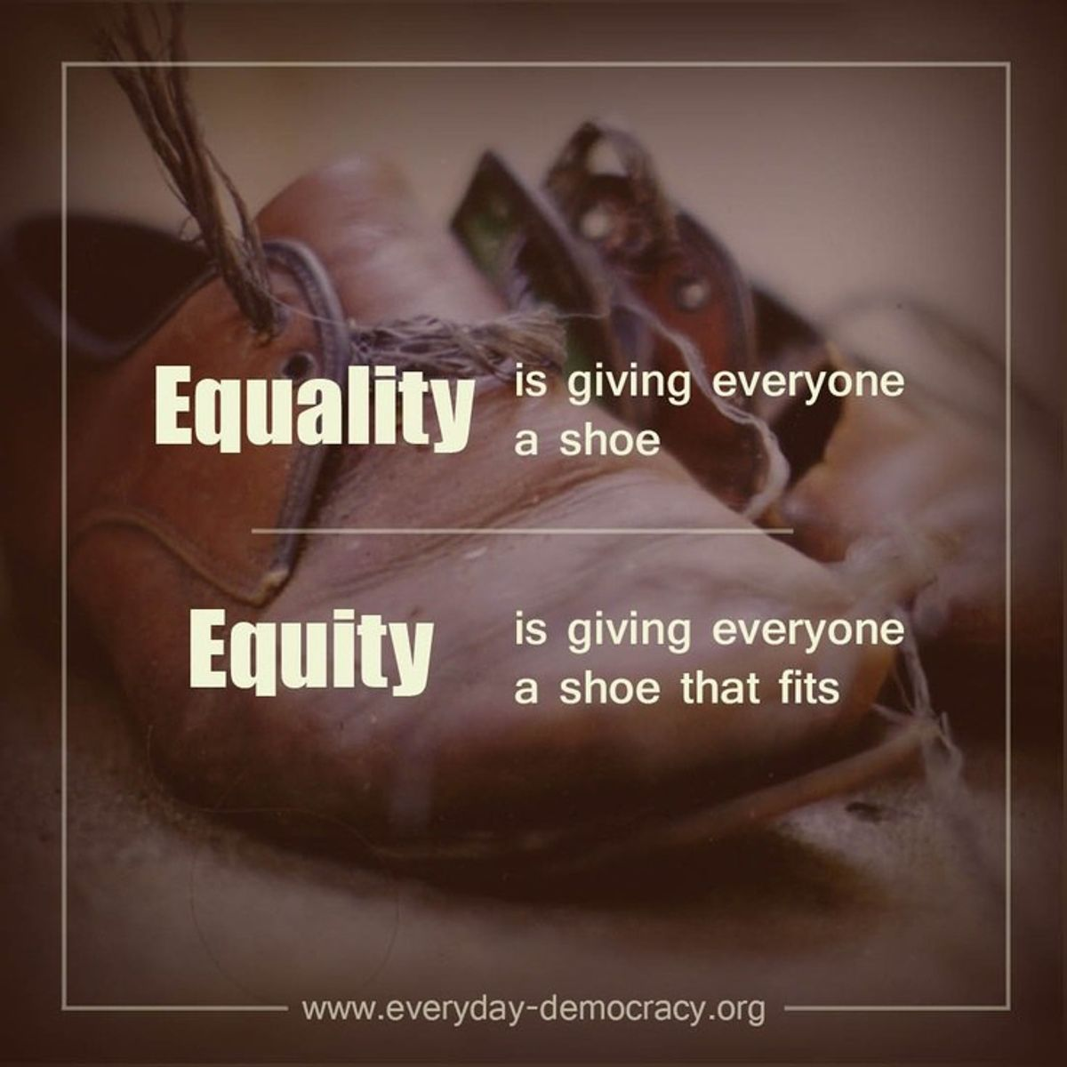 The Difference Between Equity and Equality