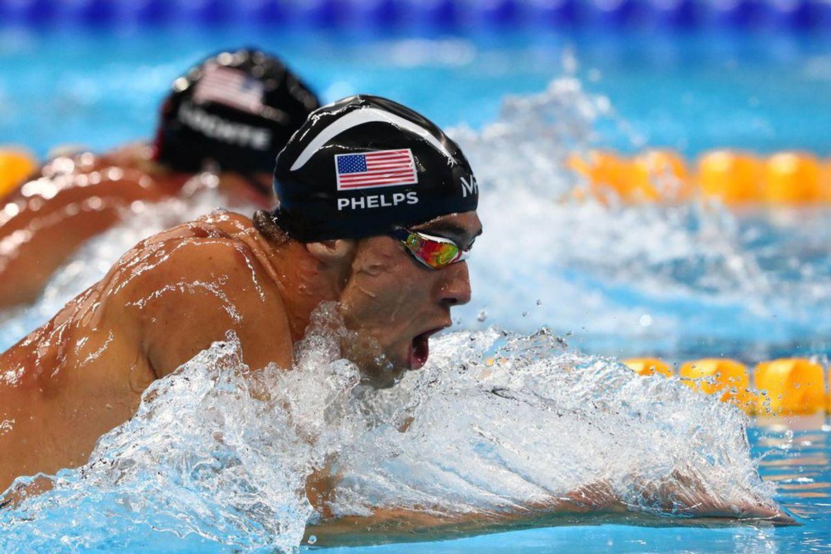 Michael Phelps Swims His Last Race