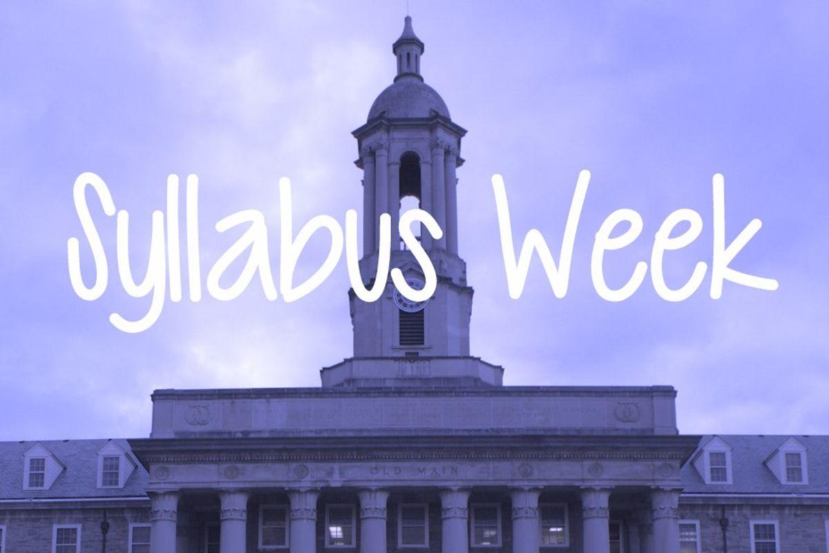 9 Essentials To Get You Through Syllabus Week