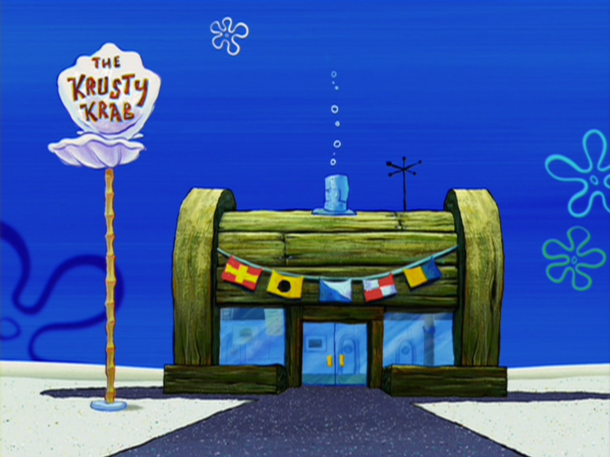 Working at the Krusty Krab