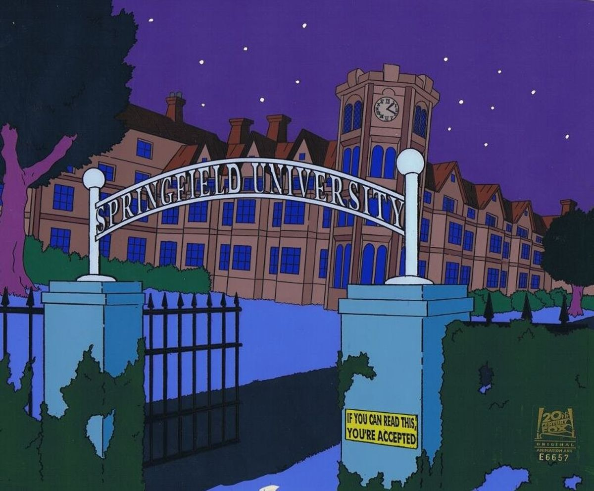 "Senior Year As Told By ""The Simpsons"""
