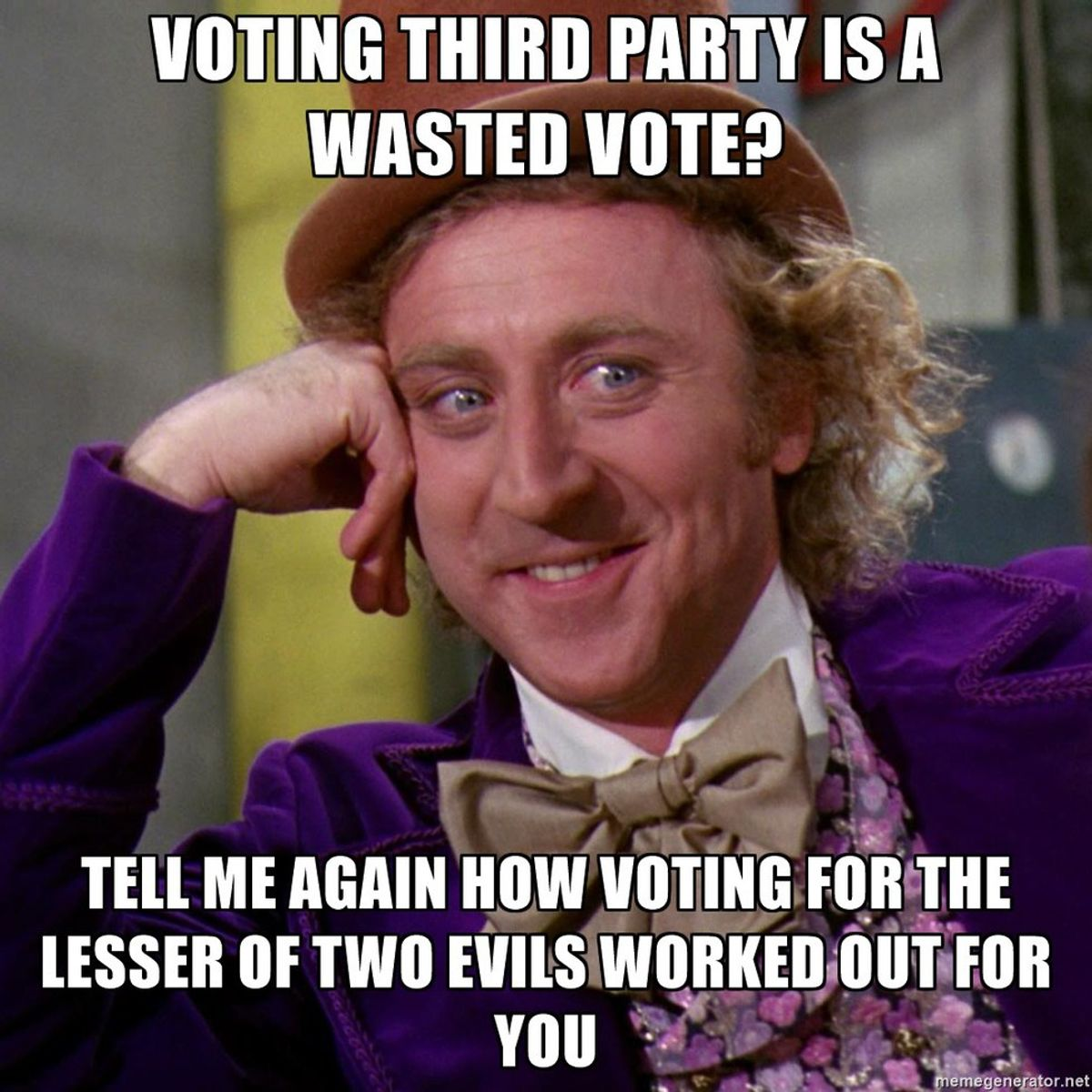 Why I'm Throwing My Vote Away