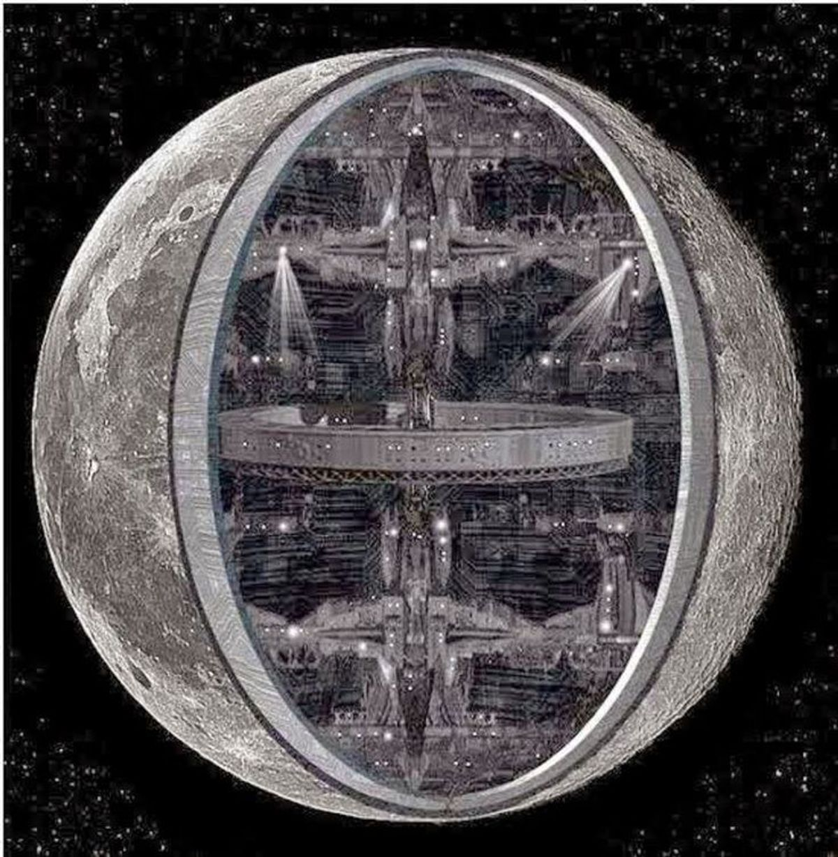 Is The Moon Hollow?