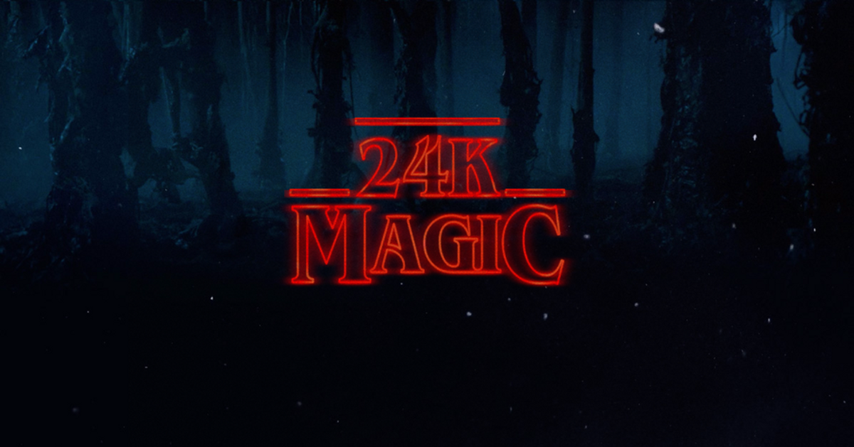 The Similarity Between 24K Magic And Stranger Things