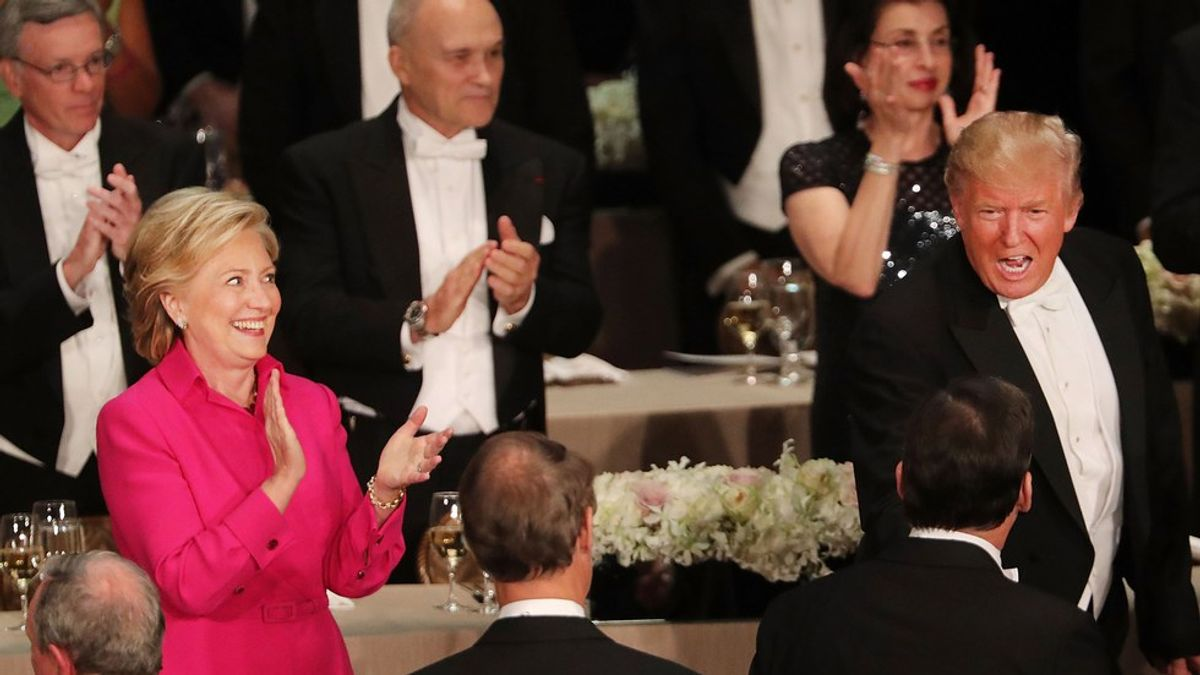 The Best Jokes Trump And Hillary Made About Each Other At The Al Smith Dinner