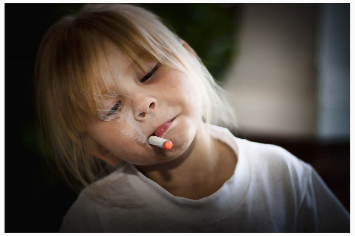 Please Stop Smoking In Front Of Your Children