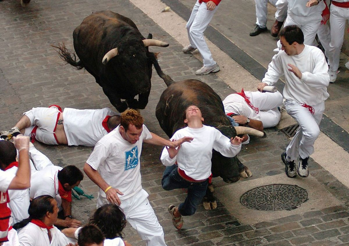 What It Was Like To Run With The Bulls