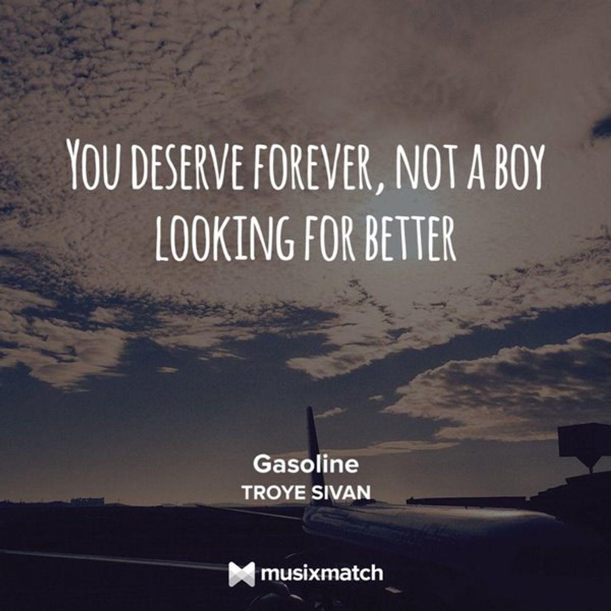 You Deserve Someone Who