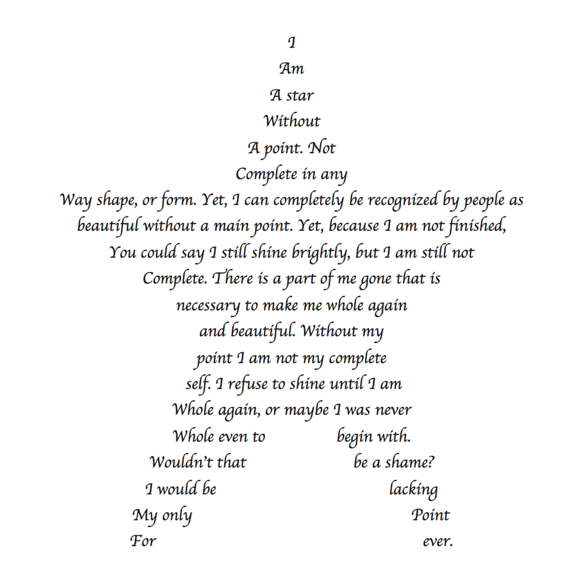 A Star Without A Point Poem