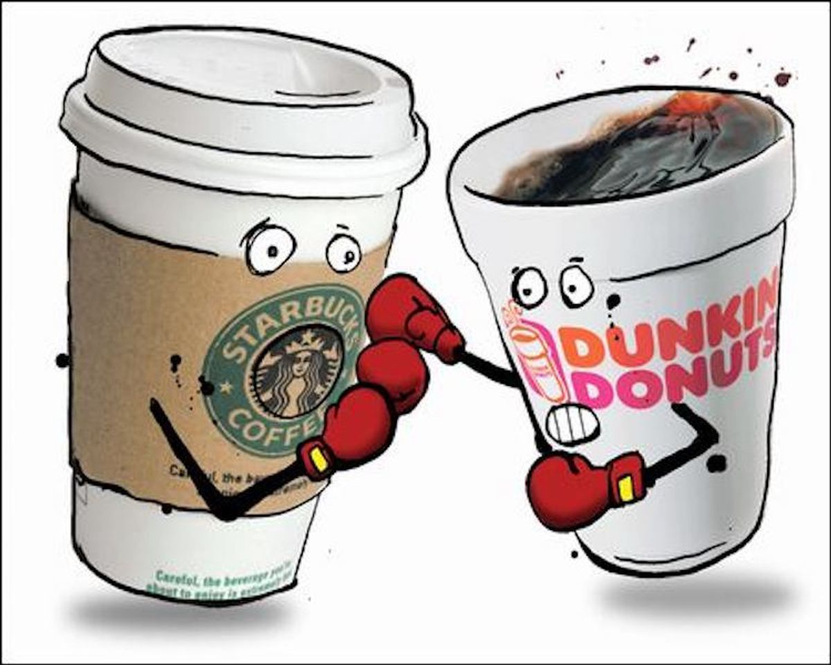 Political Battle: Starbucks Versus Dunkin Donuts