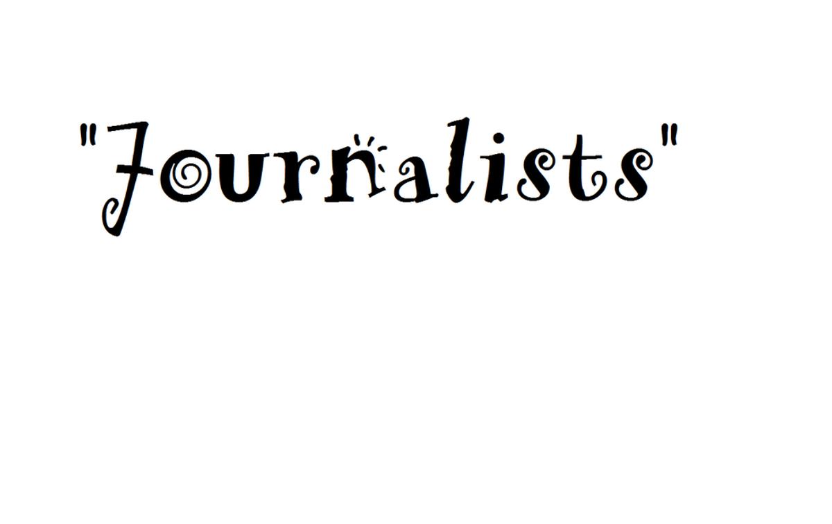 """Journalists"" ..?"