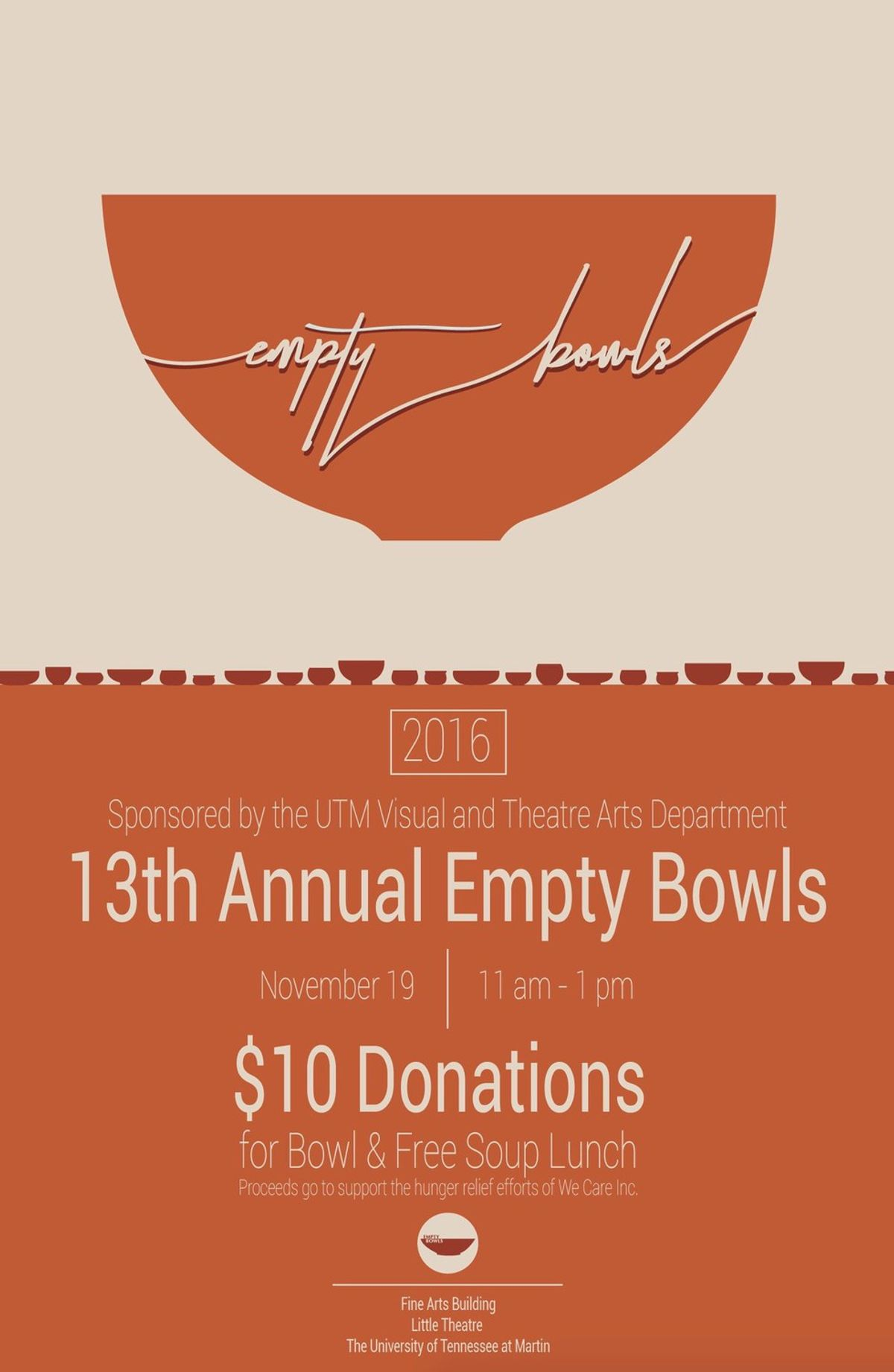 The 13th Annual Empty Bowls