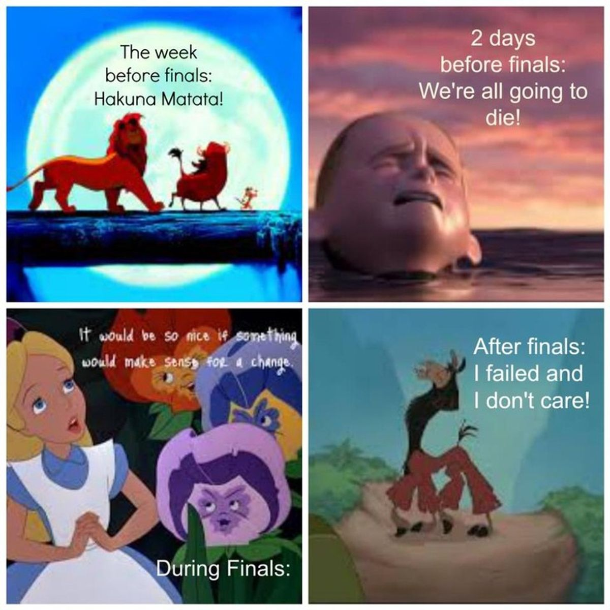 5 Things to Remember During Finals Week As Told By Disney Characters