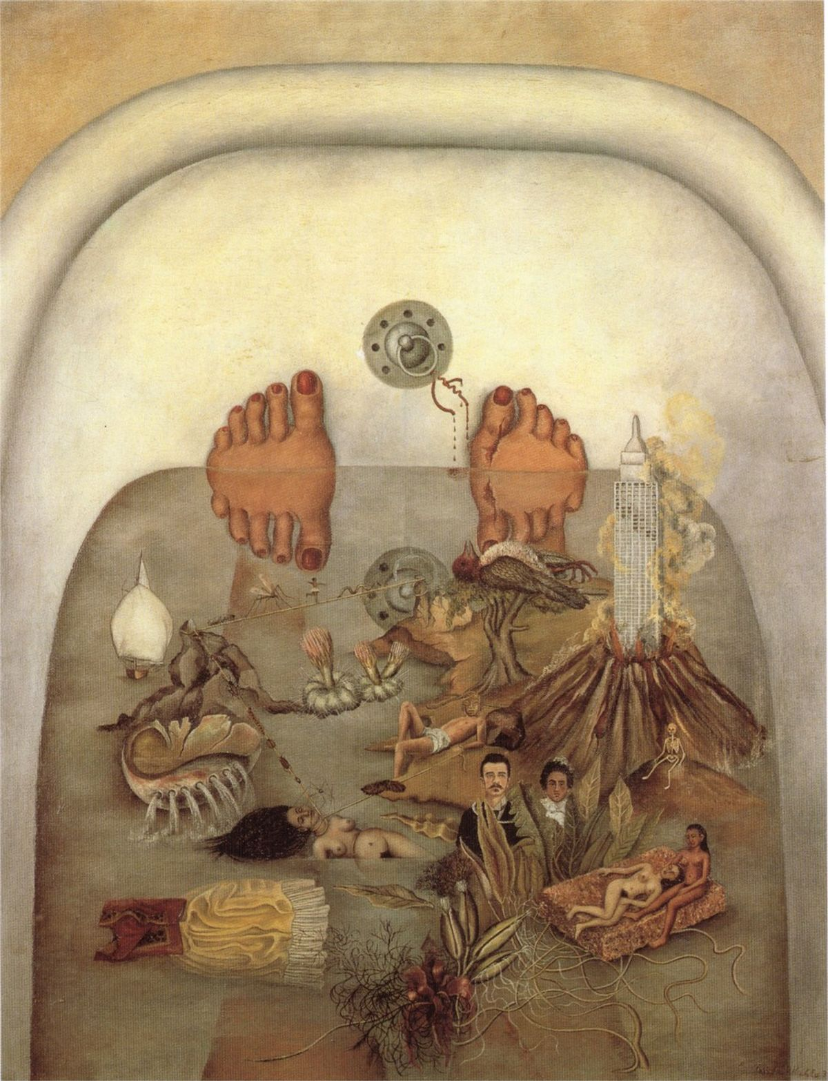 """An Interpretation Of Frida Kahlo's """"What The Water Gave Me"""""""