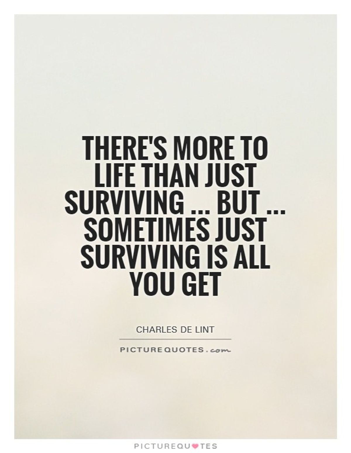 You Just Have To Survive