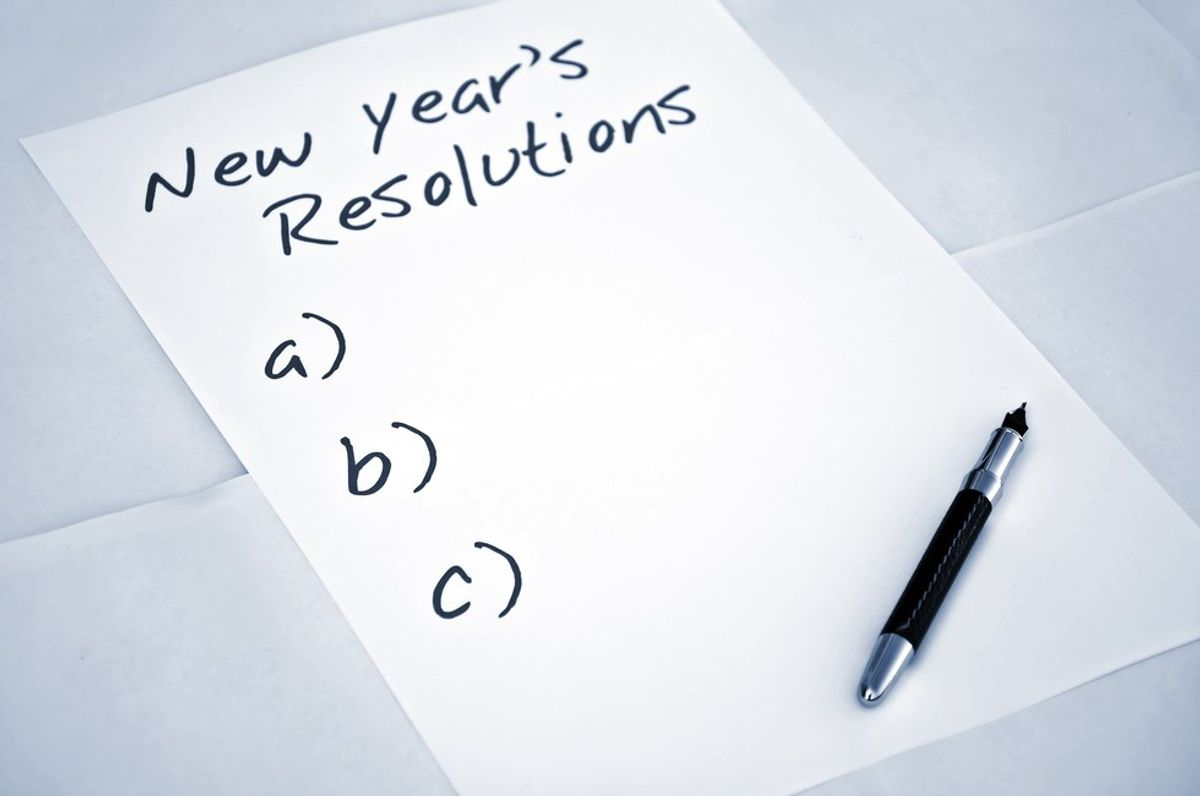 40 New Year's Resolutions We Never Keep
