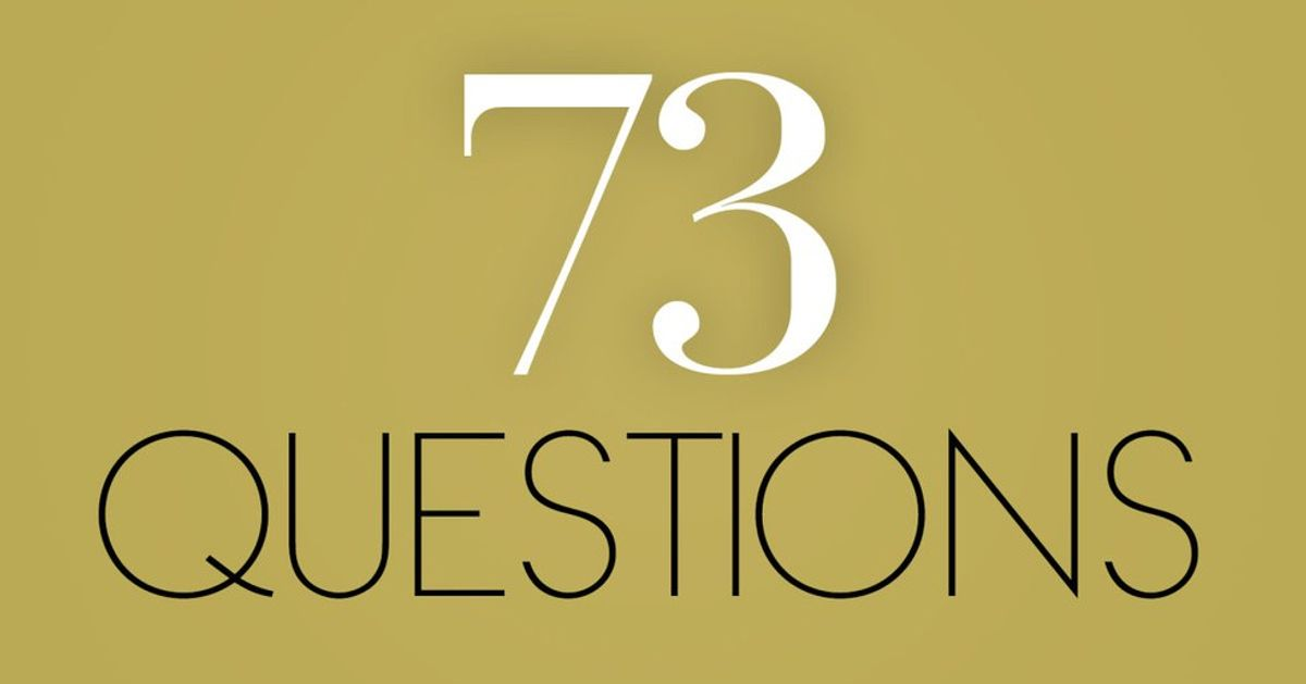 Answering Vogue's 73 Questions