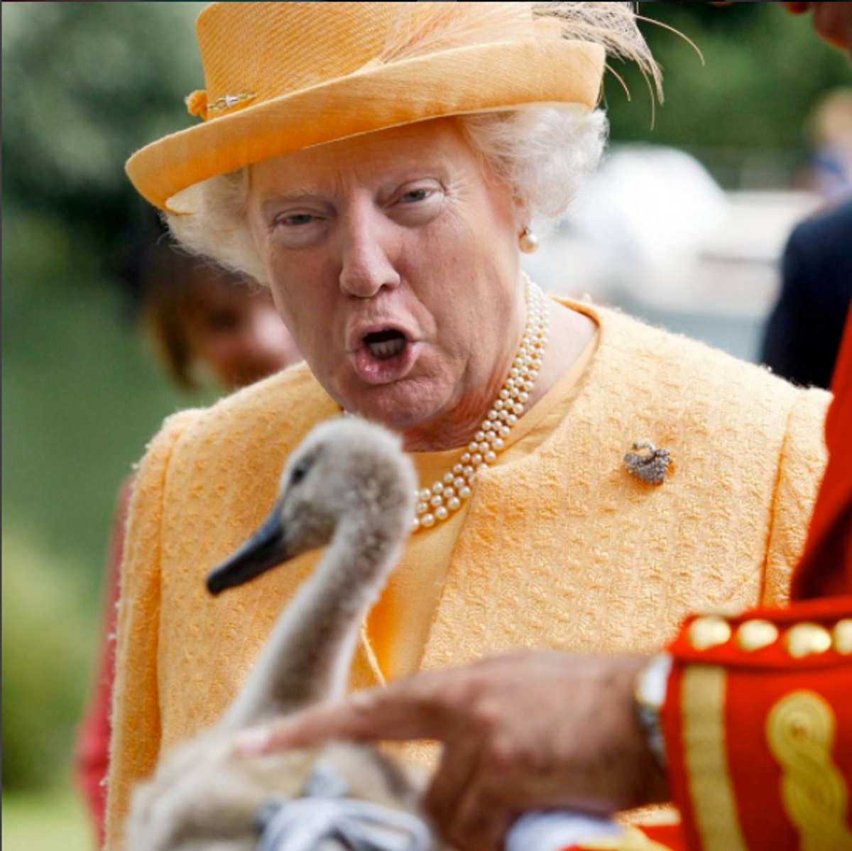 Someone's Been Photoshopping Trump's Face on the Queen