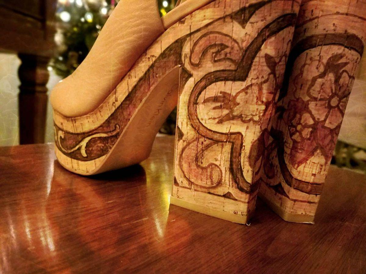 Step-By-Step DIY Boho Heels