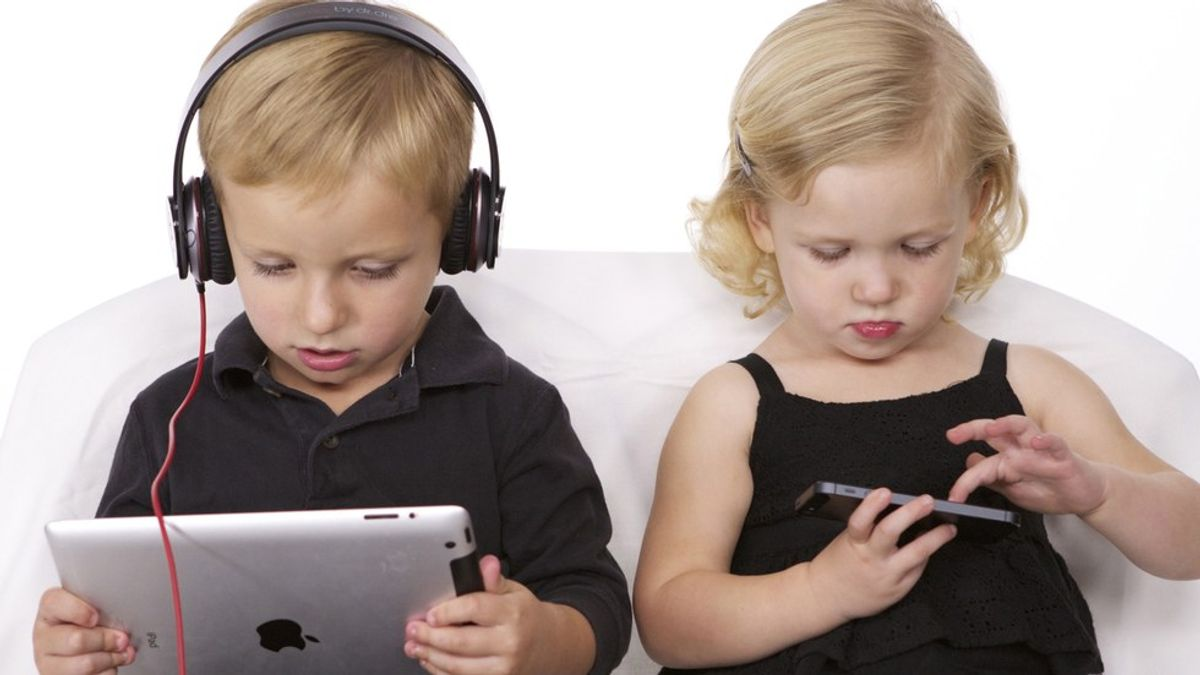 The Problem Of Children Being Consoled By Tech Not Toys
