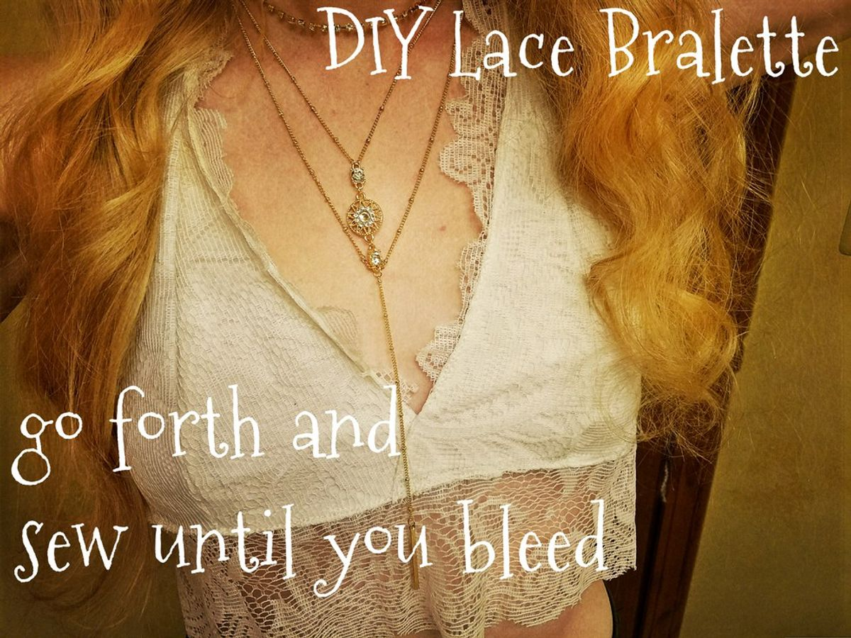7 Steps To DIY A Lace Bralette