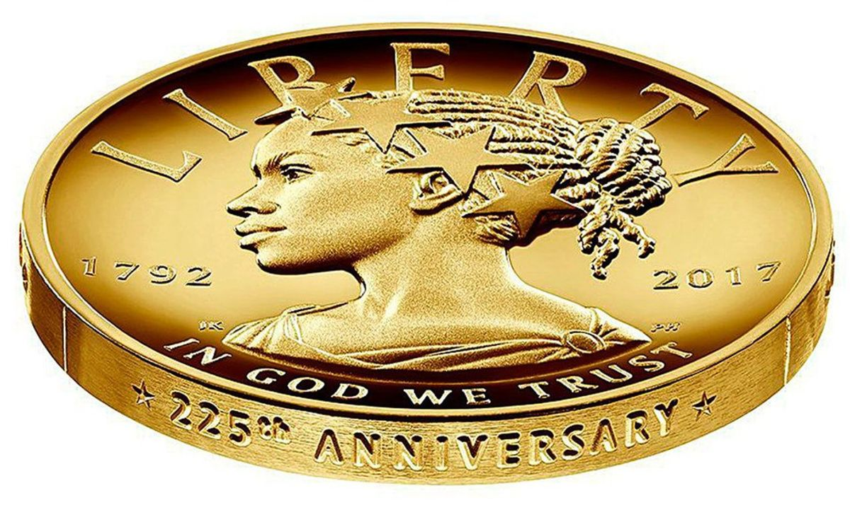 225th Anniversary Coin Depicts African-American Woman