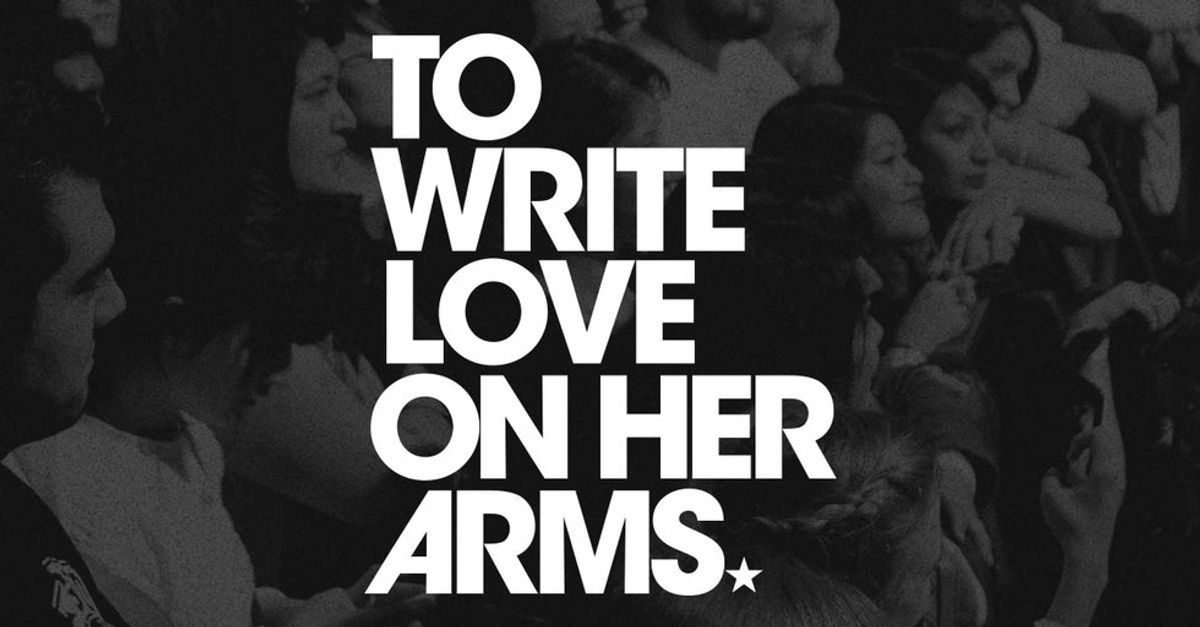 Why You Should Be Supporting To Write Love On Her Arms