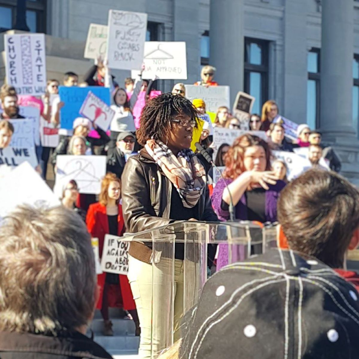 Rae Nelson Makes Arkansas History As First Black Trans Woman To Speak At Annual Reproductive Justice Rally