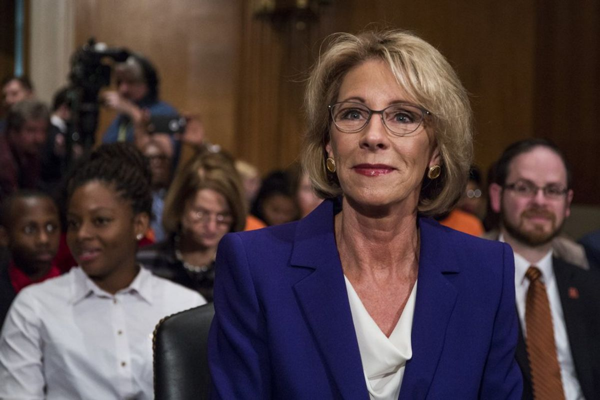 Keep Betsy DeVos Away From My Education, America