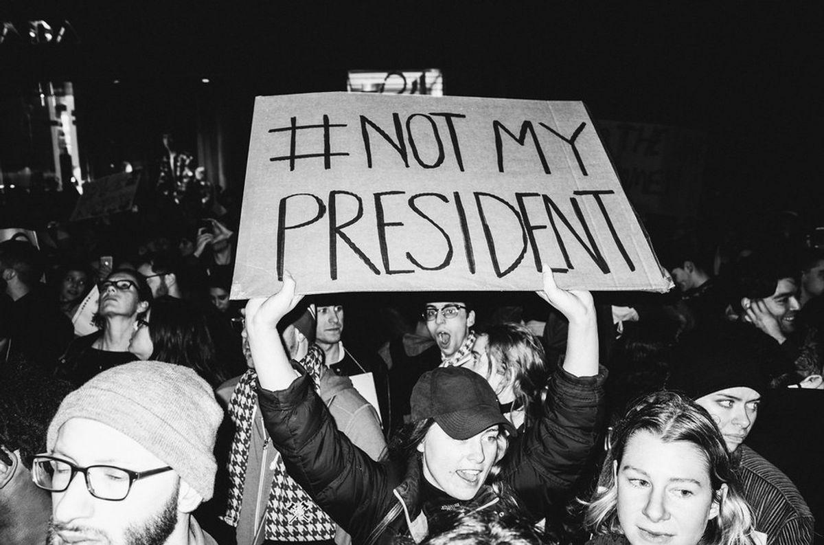 """This is for you, """"not my president"""" supporters"""