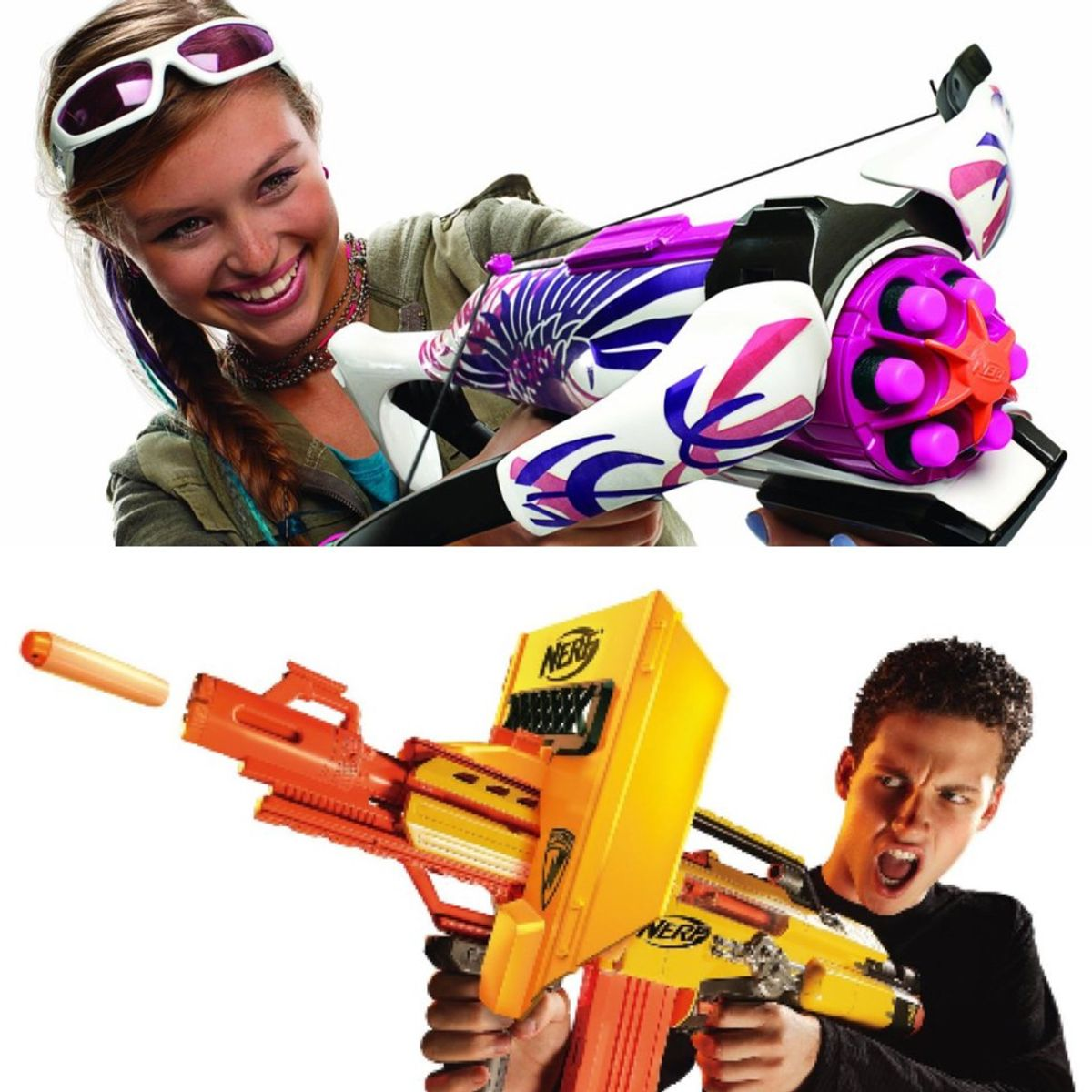 Why Is Marketing For Nerf Guns So Different For Girls Than Boys?