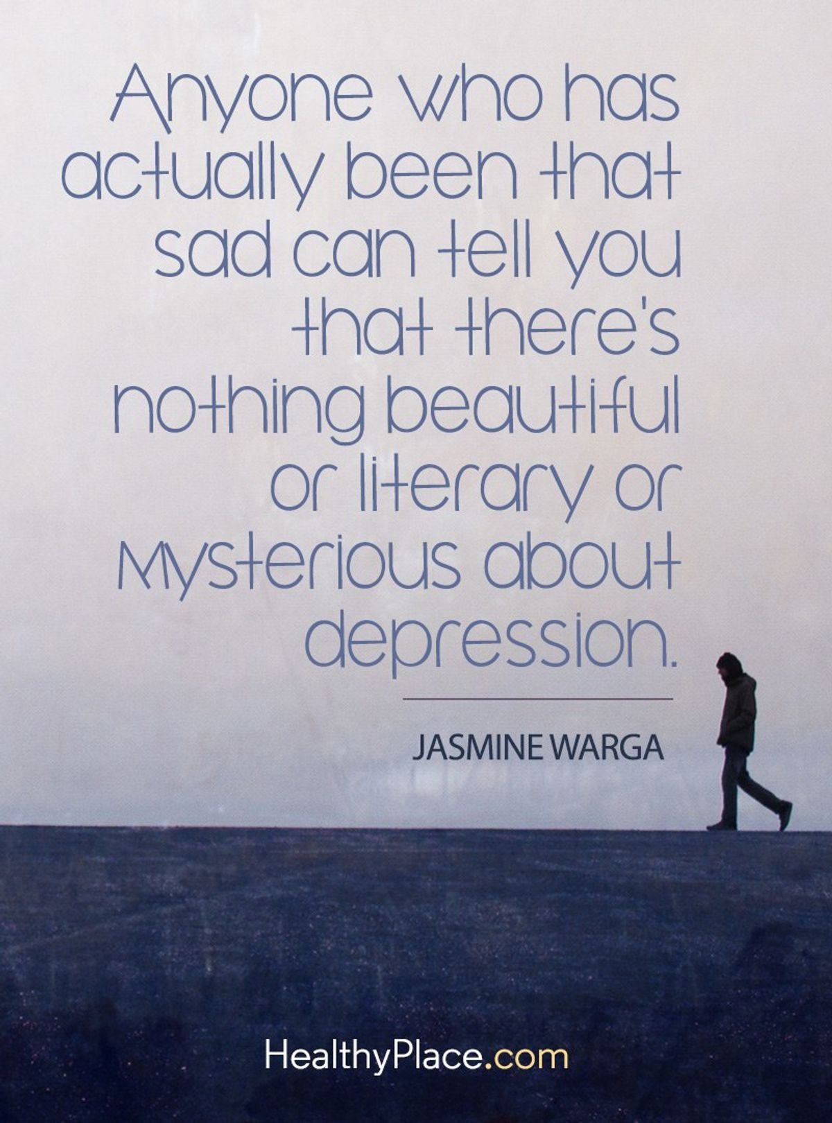 Depression makes you feel numb, Anxiety makes you feel scared
