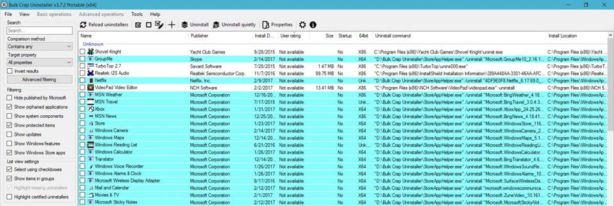 Software Review: Bulk Crap Uninstaller