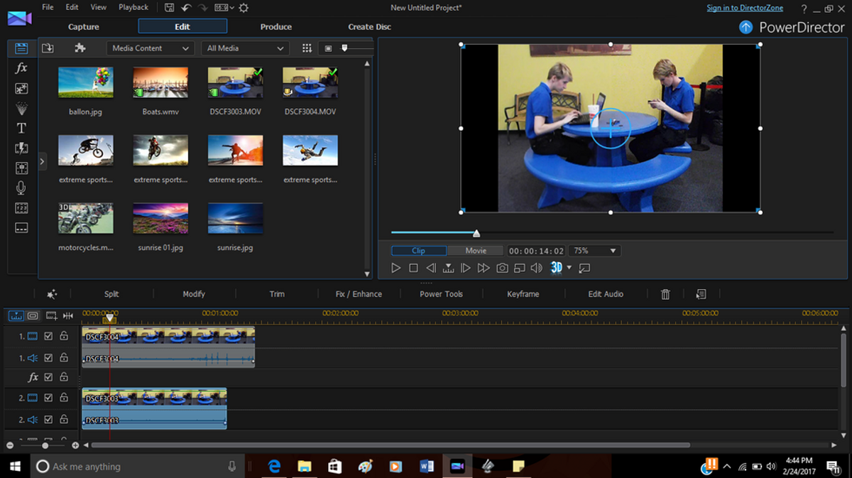 Filming A Split Screen Shot