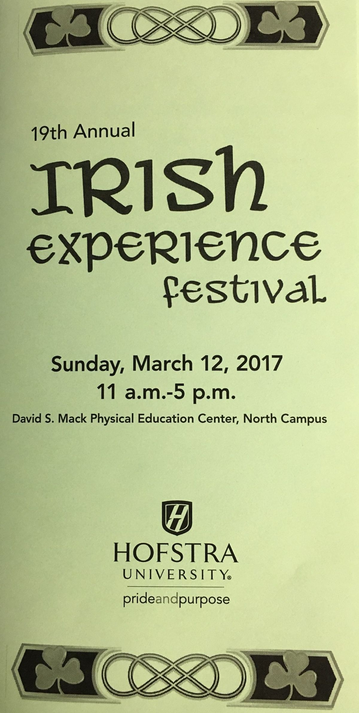 Hofstra University's 19th Annual Irish Experience Festival