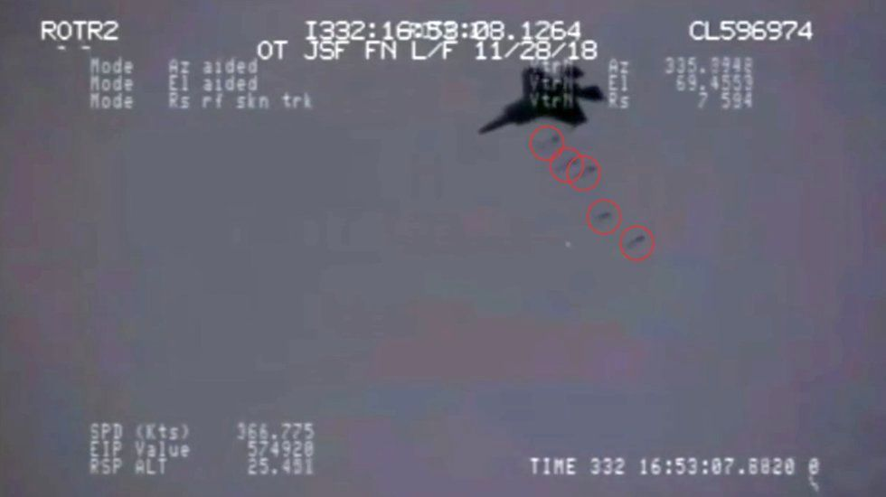 Leaked Video Shows F-35 Hitting 5 Precision Targets At Once