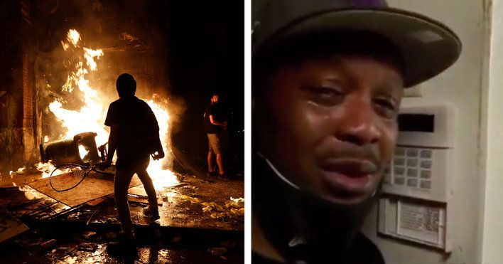 Former firefighter reduced to tears as his dream business is destroyed during Minneapolis riots