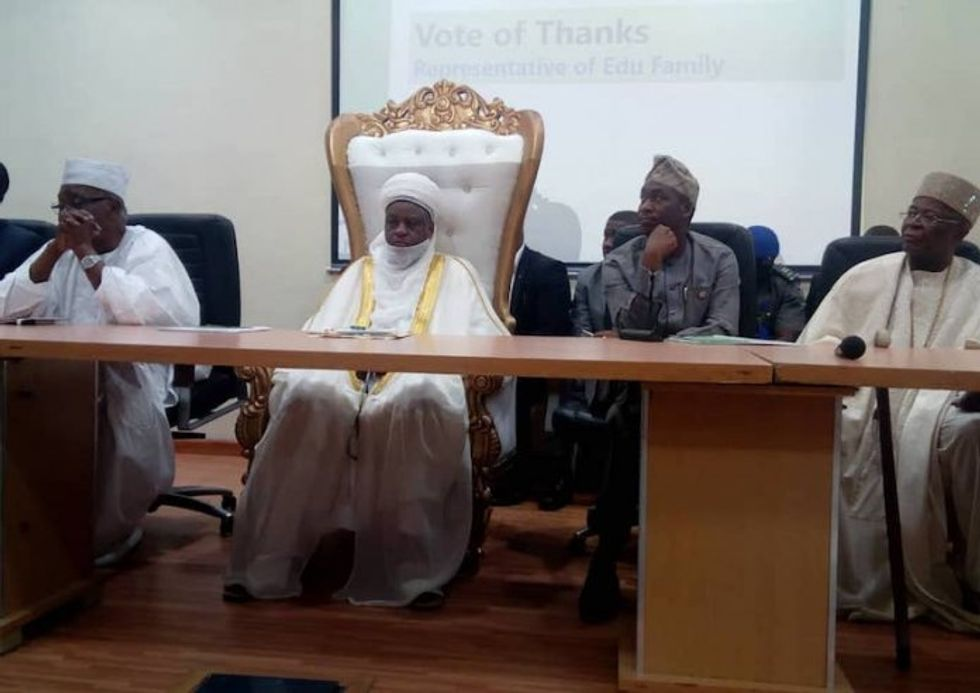 Deserts encroach at a rapid speed of 600m annually, says Sultan Abubakar
