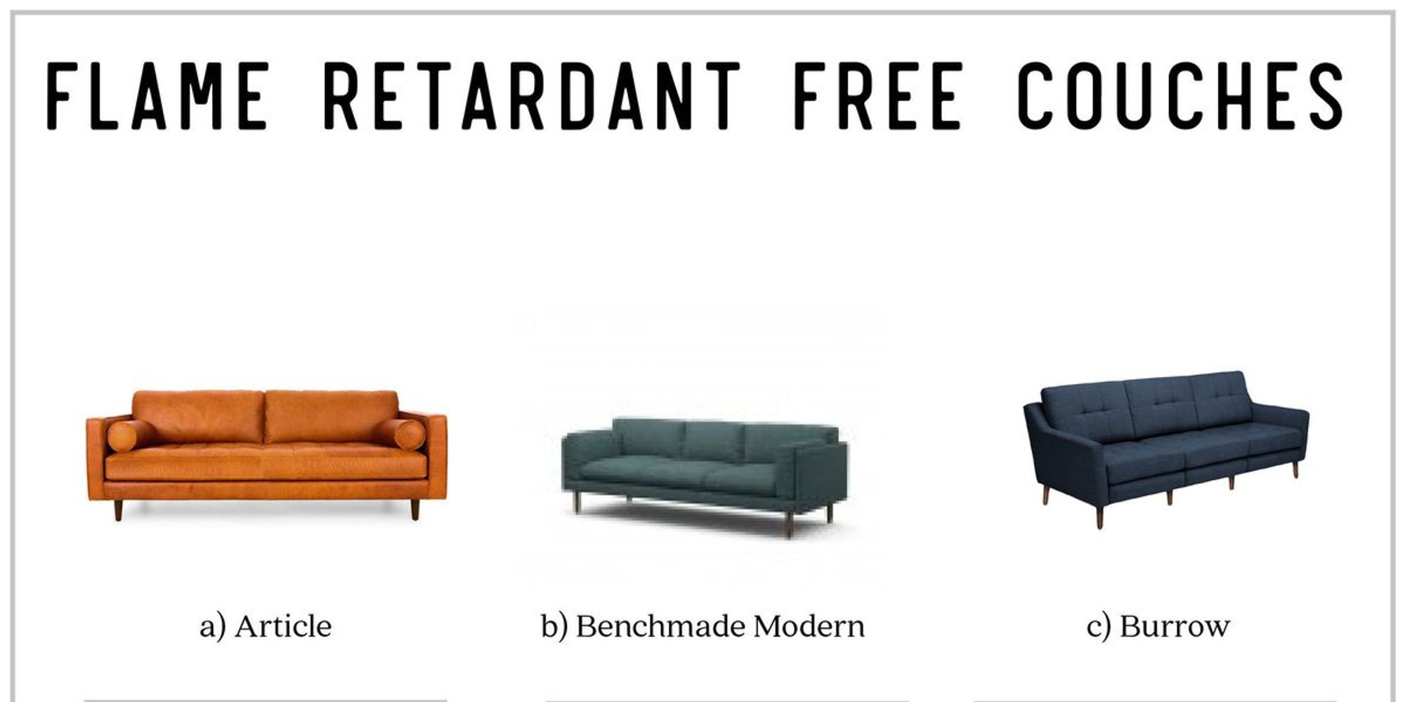 Modern Couches Without Flame Ants