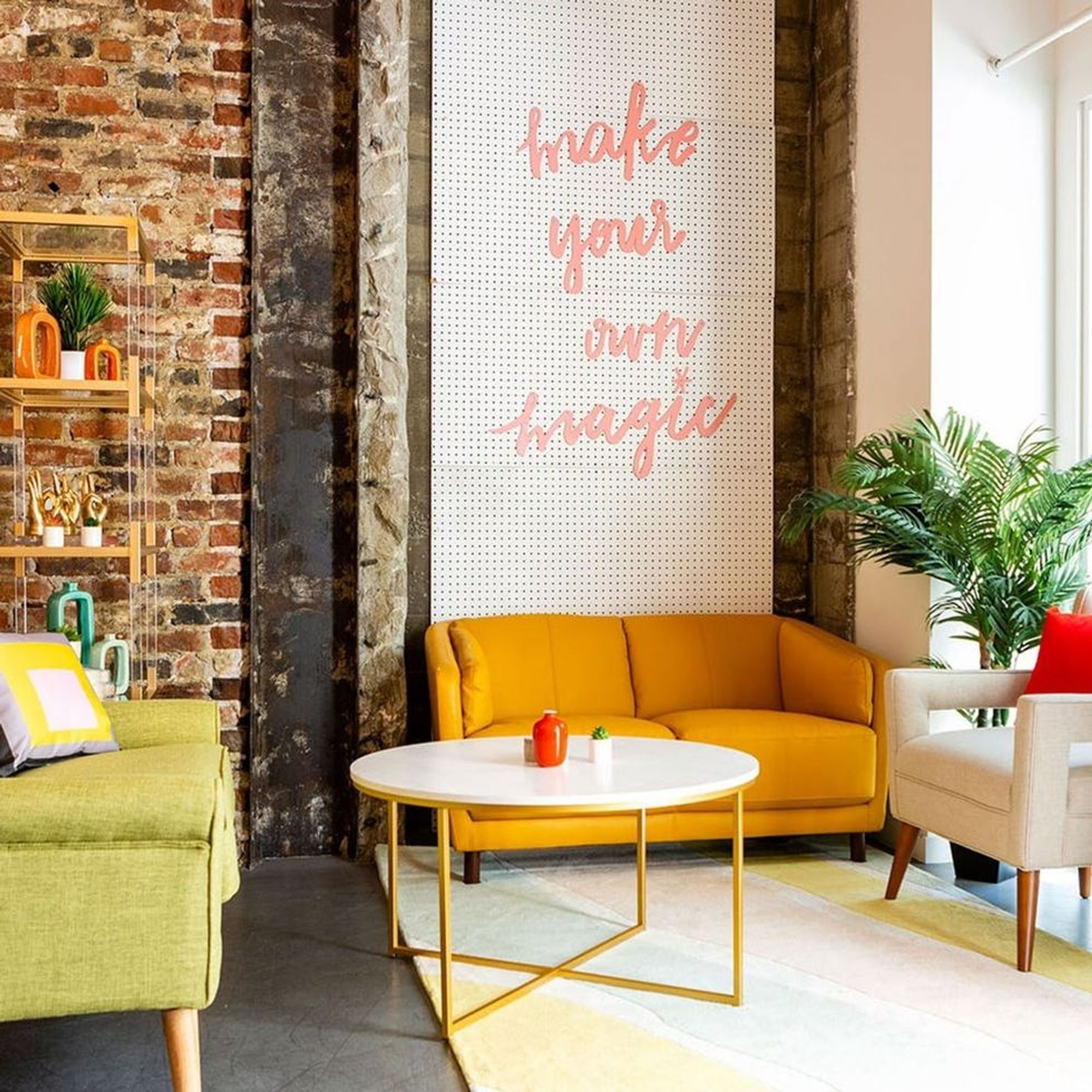 Check Out Our Colorful Mid-Century Modern Office Makeover - Brit + Co
