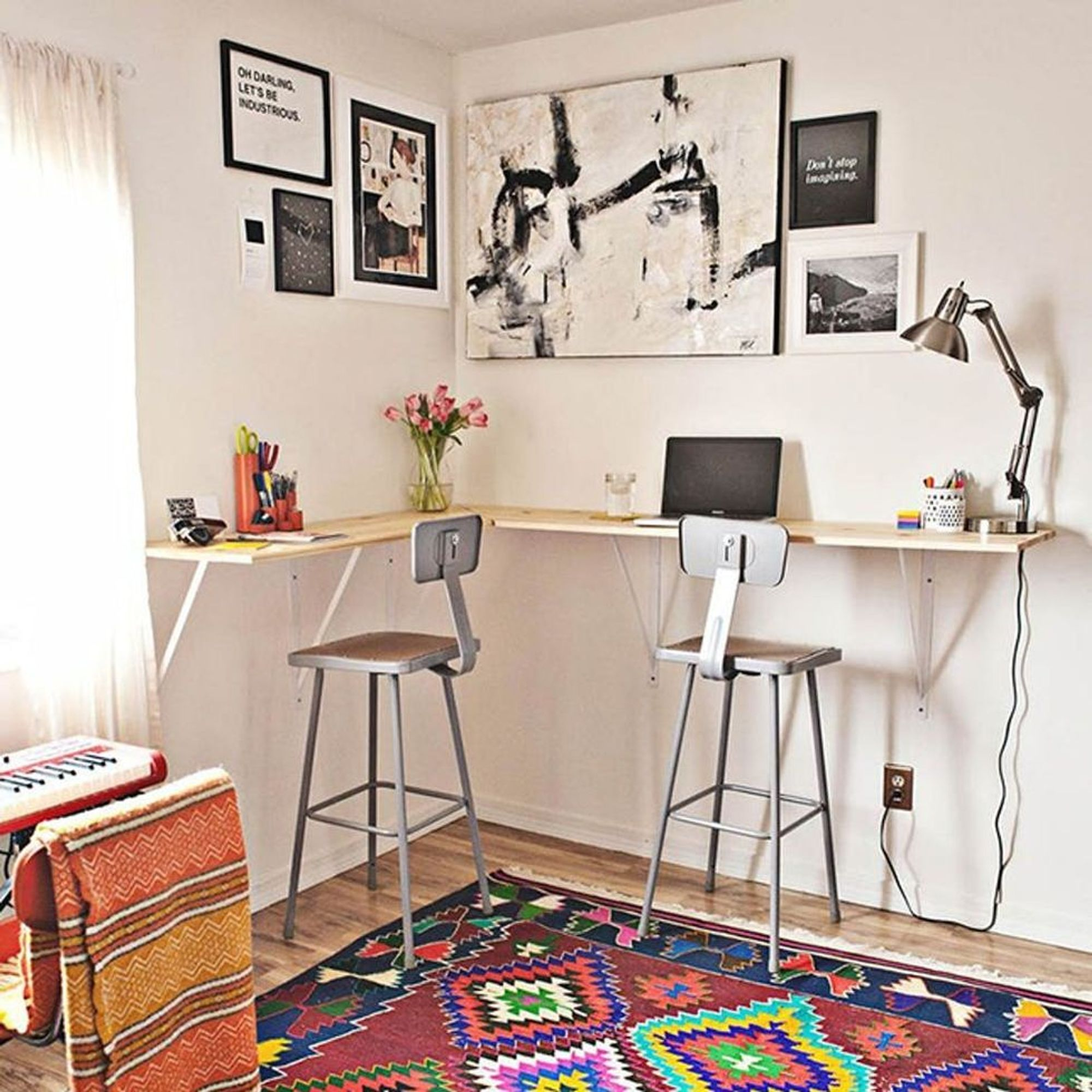 50 Space-Saving Wall-Mounted Desks to Buy or DIY - Brit + Co