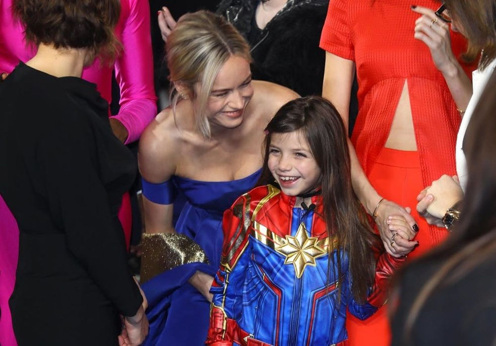 Brie Larson Meeting a Little Girl Dressed as Captain Marvel Is the Best Thing You'll See Today