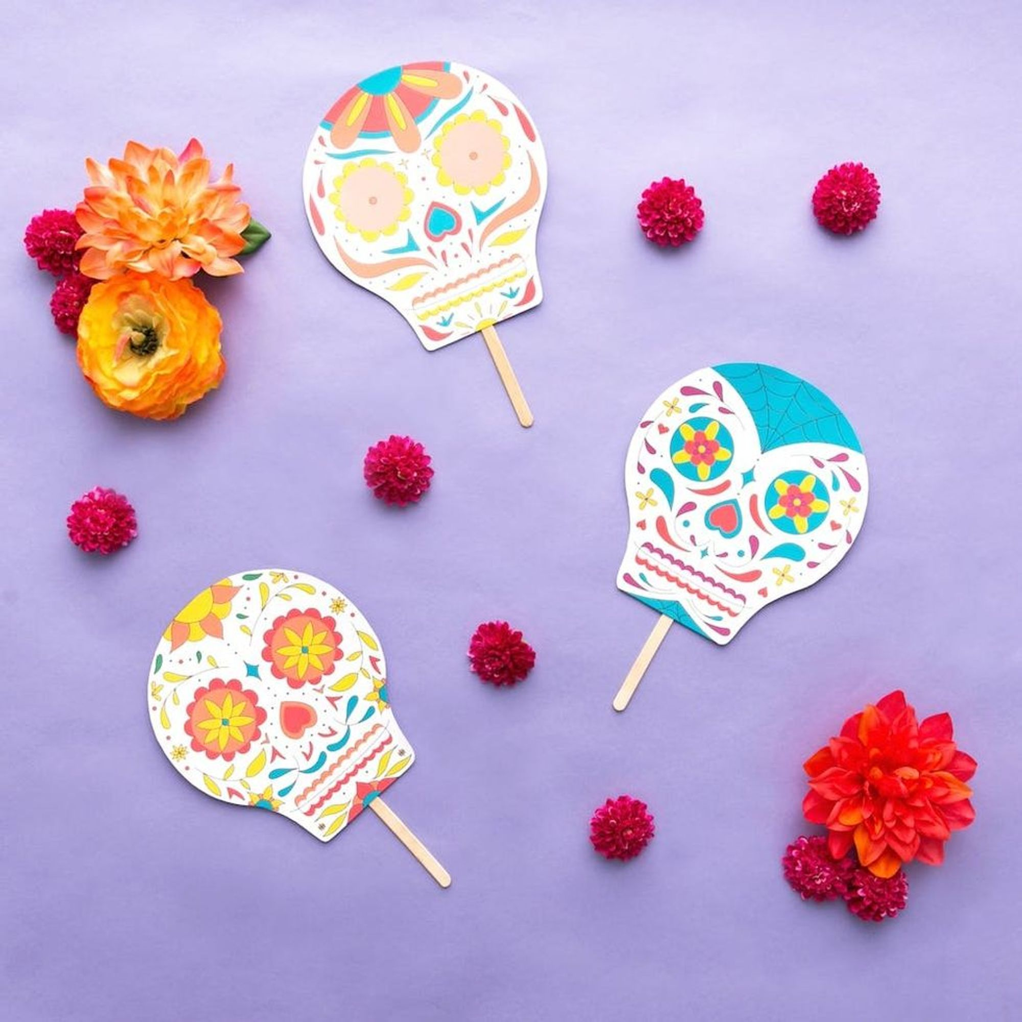 Free Printable Friday Dia De Los Muertos Sugar Skulls