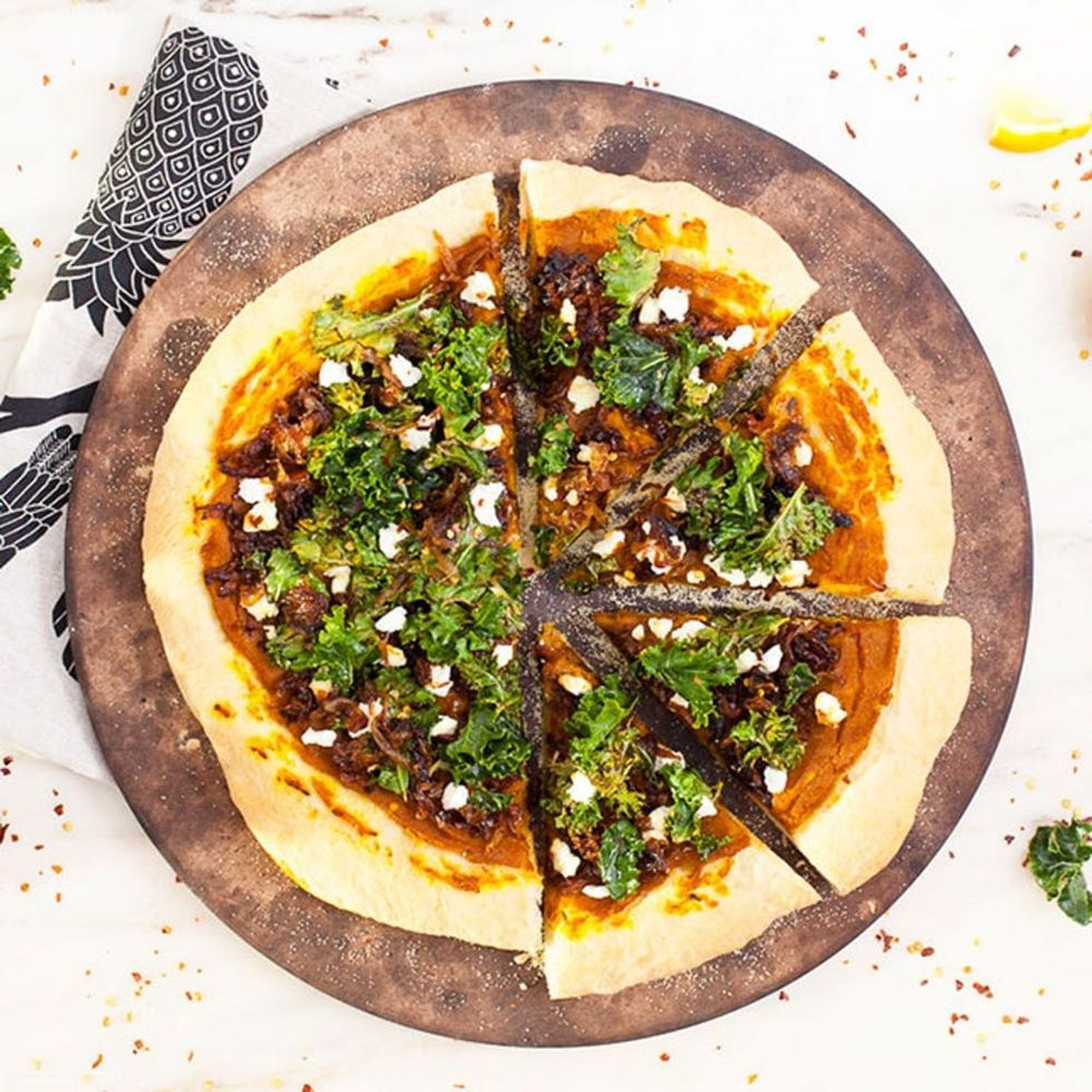 How to Make a Roasted Butternut Squash Pizza in 20 Minutes