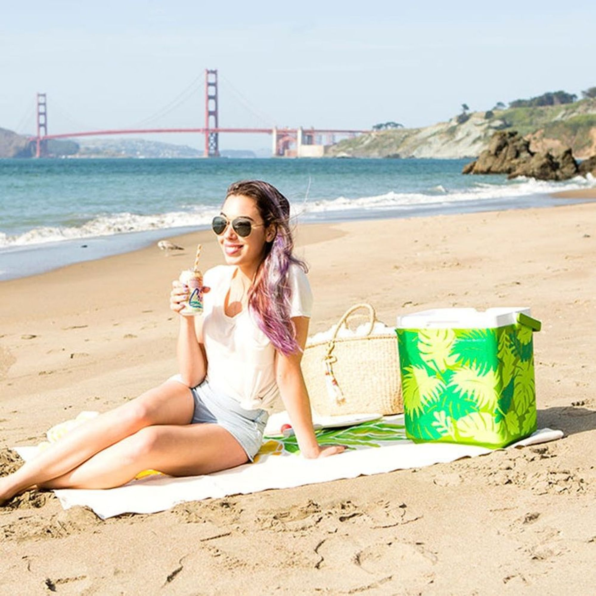 Update Your Beach Cooler With Only 2 Materials Brit Co